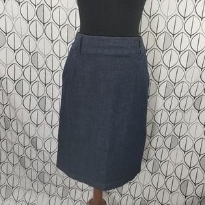 Boden  Dark Wash Blue Jean Pencil Skirt WG337
